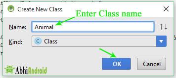 Enter Class name