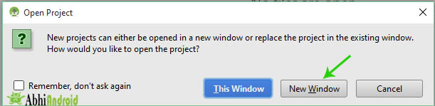 choose the window to open project