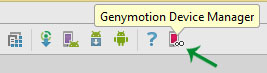 Genymotion device manager android studio