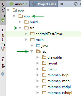 app src res folder in Android Studio