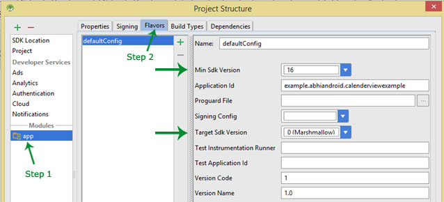 change api sdk level in Android Studio