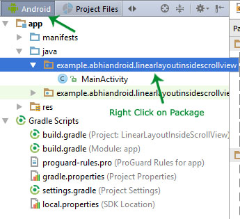 Android View in Android Studio