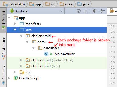 package folder android studio split broken