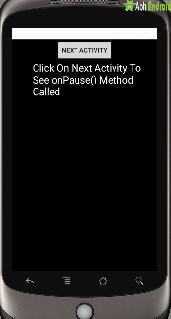 onPause Final Output