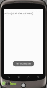 onStart call after onCreate in Android Output