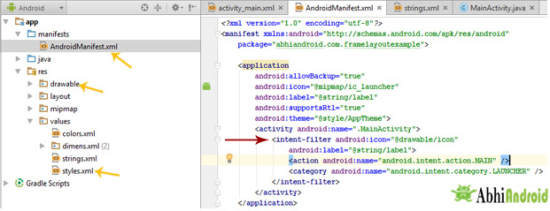 Intent Filter in Android Manifest
