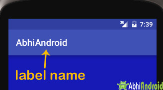 android label in Strings