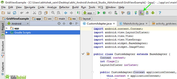 How to open AVD Manager in android studio