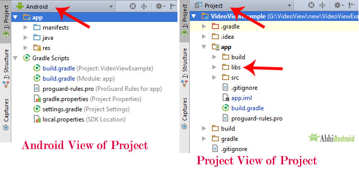 Android Vs Project View Android Studio