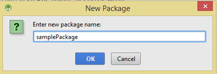 new package name Android Studio