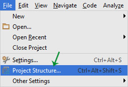 project structure in Android Studio