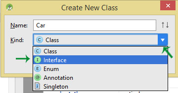 create interface in Android Studio