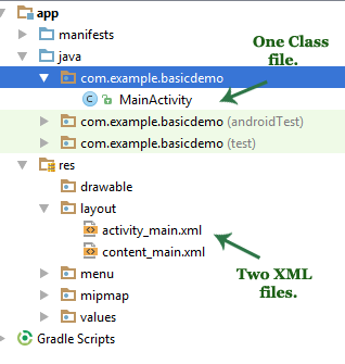 Basic Activity Layouts In Android Studio