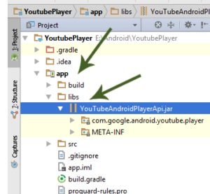 Adding Youtube Api To Application In Android Studio