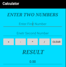Calculator App UI In Android Studio