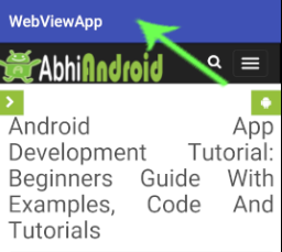 Action Bar In Android Studio