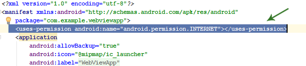 Adding Internet Permission In Android Studio