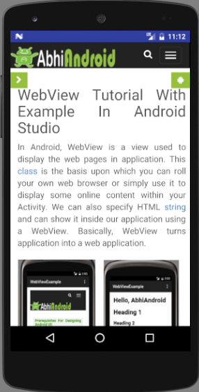 Application Using Webview In Android Studio
