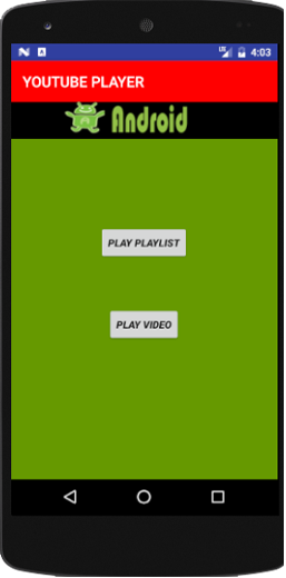 Youtube Player App In Android Studio