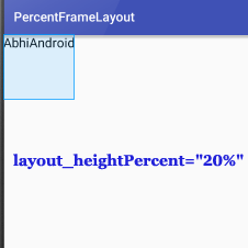 PercentFrameLayout HeightPercent In Android Studio