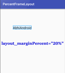 PercentFrameLayout Margin Percent In Android Studio