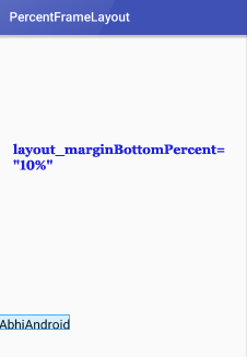 PercentFrameLayout MarginBottom Percent In Android Studio