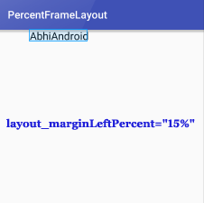 PercentFrameLayout MarginLeft Percent In Android Studio