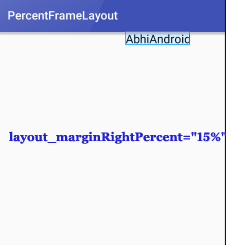 PercentFrameLayout MarginRight Percent In Android Studio