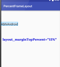 PercentFrameLayout MarginTop Percent In Android Studio