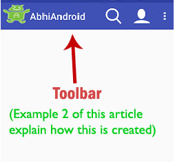 Toolbar in Android