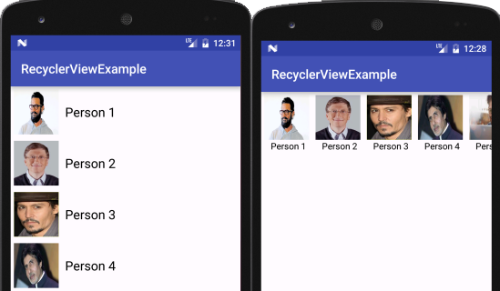 RecyclerView As ListView With Example In Android Studio