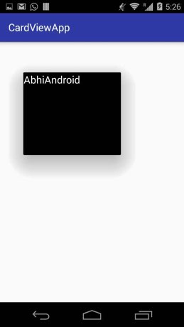 CardView cardElevation in Android