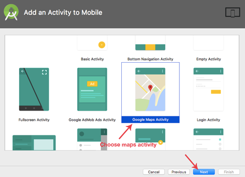 Choose-Map-Activity-Android-Studio