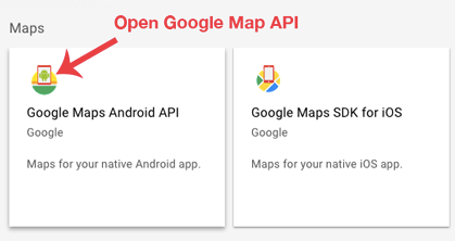 Open-google-map-api