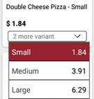 Sell-variant-of-food-item-food-ordering