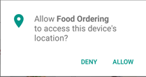 Run-time-permission-food-ordering