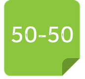 50-50-quiz-android-code-icon