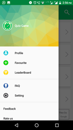 Quiz Game App Navigation Drawer