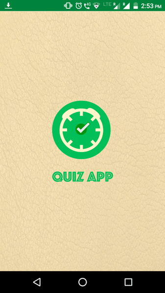 Quiz Game App Splash Screen Screenshot