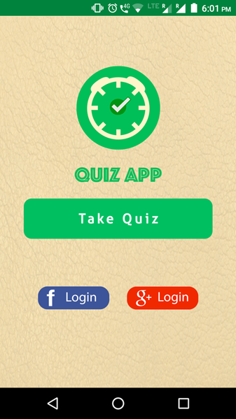 Quiz Game Social Facebook Google Login