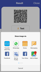 Smart Sharing App Feature with QR code