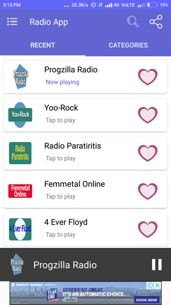 Radio Streaming App Screenshot 3