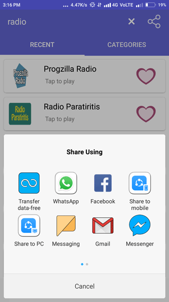 Radio Streaming App Screenshot 7