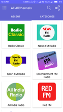 Radio Streaming Categories