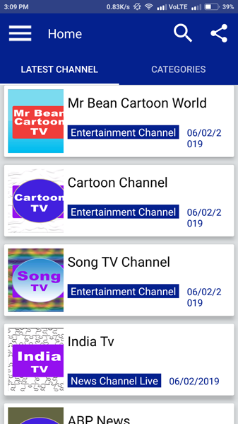 video tv streaming screenshot 1