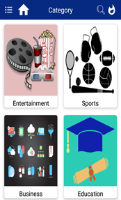 Categories News app