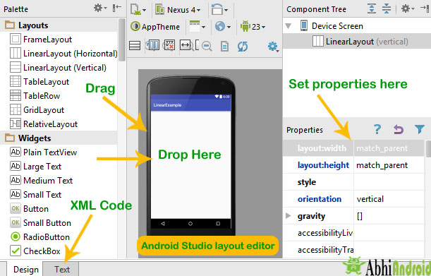 Android Studio Layout Editor