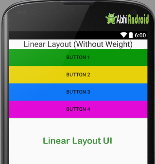 Linear Layout in Android Example 1