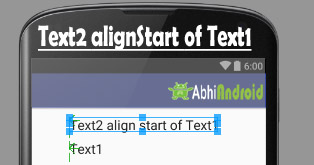 alignStart in Relative Layout Android Example