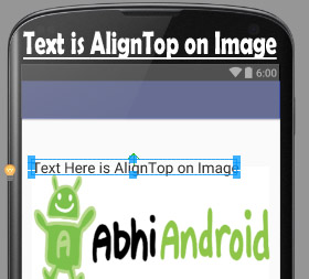 alignTop in Android Relative Layout